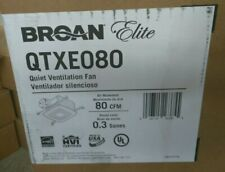 NEW BROAN Bathroom Fan,80 CFM,0.2A,23.3W, QTXE080