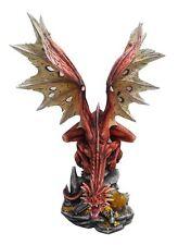 Roter Drache Drachen Gothic Dragon Figur Statue Skulptur Fantasy LARP 770-1001