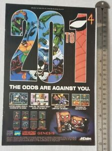 Spider-man Super Nintendo/Sega Video Game RARE Print Advertisement