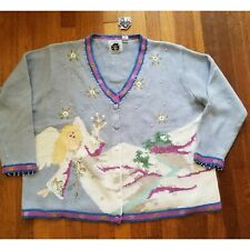 Storybook Knits Angel V Neck Cardigan Sweater Size 3X