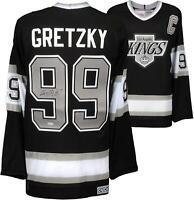 Wayne Gretzky LA Kings Signed Black CCM Replica Jersey - Upper Deck - Fanatics