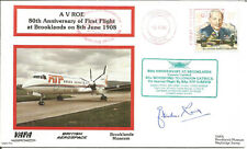 VAFA Flown And Signed Cover First Flight A V ROE 80th Anniversary 1983 U4286