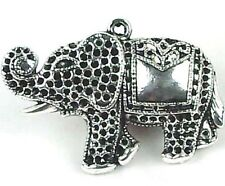 32x42mm Silver Pewter Elephant Pendant Charm ~ Lead-Free