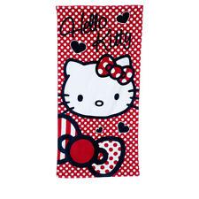 SANRIO serviette drap de bain plage  70 x 140 cm HELLO KITTY rouge blanc  neuve