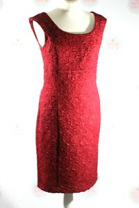 Phase Eight Sleeveless RED Fitted Dress Party Christmas Special Occasion UK 12