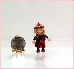 Dollhouse Miniature Ethel Hicks Fran the Flapper Angel Children Doll
