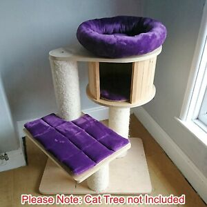 Handmade PURPLE Cat Bed Replacement Set for Natural Paradise Cat Tree Small