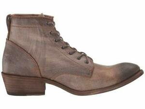 Women's FRYE Carson Chocolate Brown Leather Lace Up Ankle Boot Size 8.5B