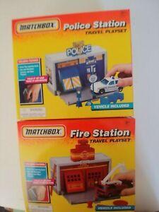 Matchbox fire travel playset and police travel playset NIP  50670 (EC)