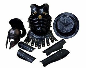 Medieval Muscle Jacket With Greek Corinthian Helmet Armor Spartan Costume