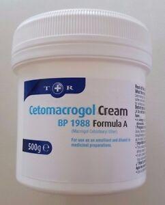 Cetomacrogol Cream BP 1988 Formula A Soften Soothe Skin Body 500g