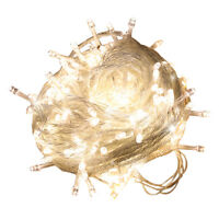10M 100 LED Guirlande Lumineuse Fil Cuivre Décoration Noël Maison Fêtes Prise EU