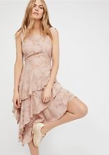 FREE PEOPLE Florence Lace Slip Dress in Ballerina Size M $128.00 NWT  #OB584091