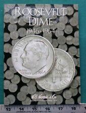 Complete Set Roosevelt Dimes 1946-1964 Circ in H.E. Harris Folder Book #5561