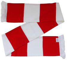 Arsenal Supporters Red and White Retro Bar Scarf  - Made in the UK