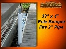"Round Dock Post Pipe Pole Bumper Cushion 33""x4"" API-RPB334 fits 2.00"" OD pipe"