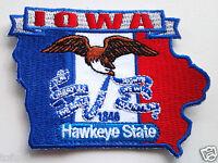 *** IOWA STATE MAP *** Biker Patch PM6716 EE