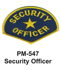 """3""""  SECURITY OFFICER Embroidered Military Patch"""