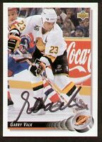 Garry Valk signed autograph auto 1992-93 UD Hockey Trading Card