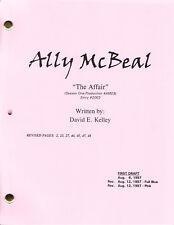 "ALLY McBEAL show script ""The Affair"""
