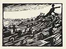 Robert BUDZINSKI - ALEXANDER der GROSSE  um 1920 Holzschnitt