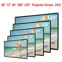 60-120'' 1080P HD 16:9 Projector Screen 3D 4K Projection Home Cinema Theater Kit