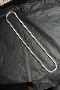 Tennis Chain Necklace Iced Mens Gold Hip Hop Silver Row Out Diamond Bling 14k