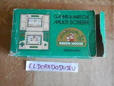 ELDORADODUJEU > JEU LCD NINTENDO GAME & WATCH : GREEN HOUSE + BOITE DOUBLE ECRAN