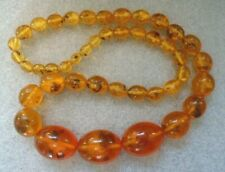 outstanding old honey  amber bead necklace