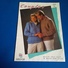 Sirdar Couples Sweaters Knitting Pattern 8788