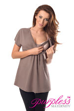 Comfortable 2in1 Maternity and Nursing Top Tunic Size 8 10 12 14 16 18 7042 Cappuccino UK 10