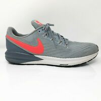 Nike Mens Air Zoom Structure 22 AA1636-405 Gray Running Shoes Lace Up Size 9.5