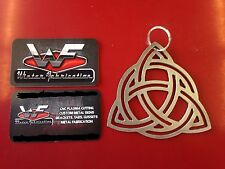 Key Chain - Celtic Knot - Irish - Rearview Mirror Hanger - Metal - Steel