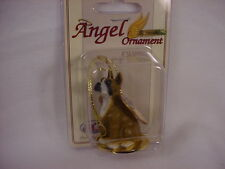 BOXER dog ANGEL Ornament Resin Figurine CROPPED puppy Christmas COLLECTIBLE