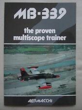 PLAQUETTE AERMACCHI MB-339 THE PROVEN MULTISCOPE TRAINER AVION AIRCRAFT FLUGZEUG