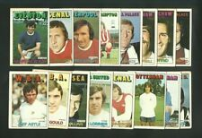 A & BC FOOTBALLERS 2nd Series - 1972 ORANGE BACK FOOTBALL TRADE CARDS x16 (RJ02)