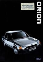 0437FO Ford Orion Prospekt 1986 6/86 Autoprospekt brochure prospectus catalog