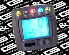 LCD DIGITAL TACHOMETER TACHO MIT CE FÜR MOTORRÄDER ROLLER QUAD - DOWNHILL LENKER
