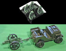 Marx Recast 54mm U.S. Jeep and Riders, plus Chinese-made 25Pdr Field Gun