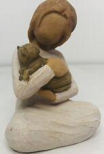 Nib 2008 Willow Tree Figurine Kindness Girl w/ Gray Cat Kitty #26218 Susan Lordi