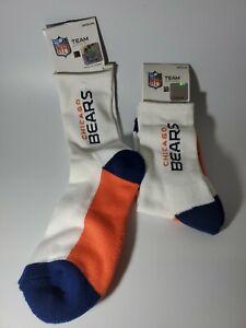 2 PAIR Chicago Bears NFL Socks Medium Size 5-10 Men New