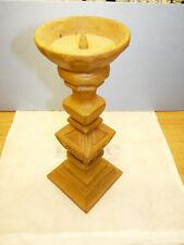 Kerzenständer aus Holz reine Handarbeit geschnitzt, 34cm hoch kein Fernostimport