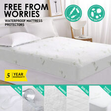 All Size Fully Fitted Waterproof Cotton / Bamboo Fibre Mattress Protector Cover