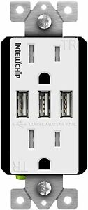 TOPGREENER TU21558A3 High Speed Three Port 5.8A USB Outlet Charger Receptacle