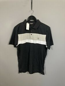 POLICE Polo Shirt - Size Large - Black - New With Tags - Men's