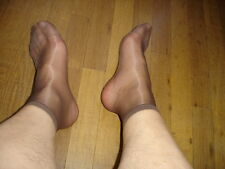 Lot 6 P Chaussettes men's socks sheer marron  T-39/42 gay inte Rfe US10