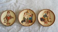 Lot of 3 Norman Rockwell Collector Plates 1979-1981 Leapfrog Toymaker Shoemaker