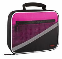 GENUINE THERMOS Insulated Picnic Lunch Cooler Bag Safety Stripe Pink Design