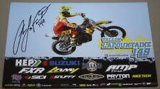 2018 Tallon LaFountaine signed Suzuki RM-Z250 Supercross Motocross postcard