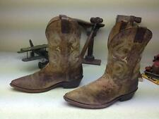 MADE IN USA BROWN DISTRESSED JUSTIN ENGINEER WORK CHORE TRUCKER FARM BOOTS 12 EE